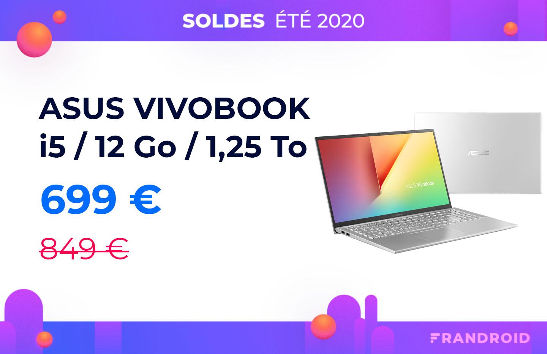 Le VivoBook d'ASUS 15 pouces à 700 euros sur Cdiscount