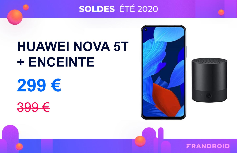 Le Huawei Nova 5T (avec services Google) passe sous les 300 € lors des soldes