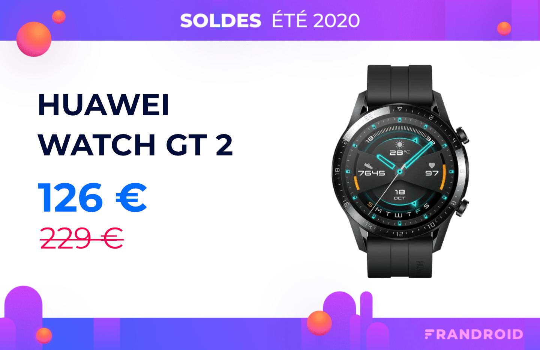 Watch GT2: l'excellente montre connectée de Huawei chute à 126€