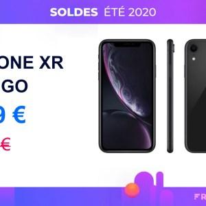 Pendant les soldes, c'est 280 € de réduction sur l'iPhone XR 128 Go d'Apple