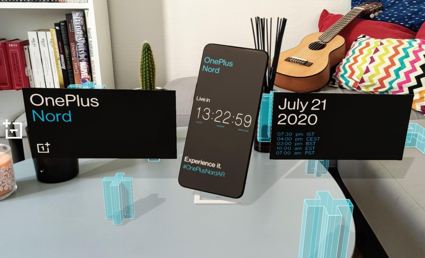 OnePlus Nord : voici l'application de réalité virtuelle pour suivre son lancement le 21 juillet