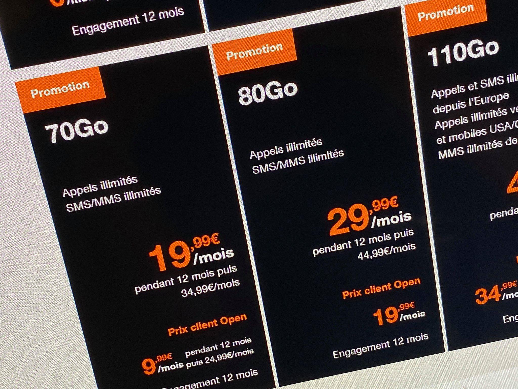 Orange ajoute 20 Go de 4G à certains forfaits sans changer leur prix