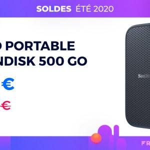 Le SSD 500 Go ultra compact de SanDisk est soldé sur Amazon