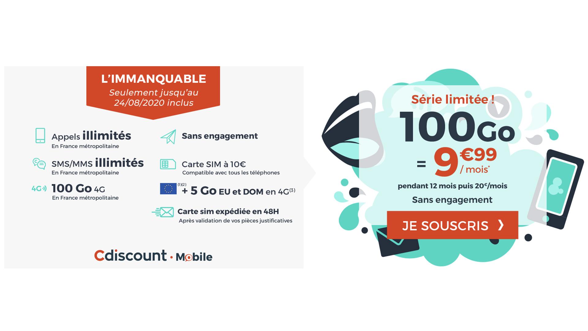 Profitez de 100 Go de data pour 10 euros mensuels avec ce forfait mobile