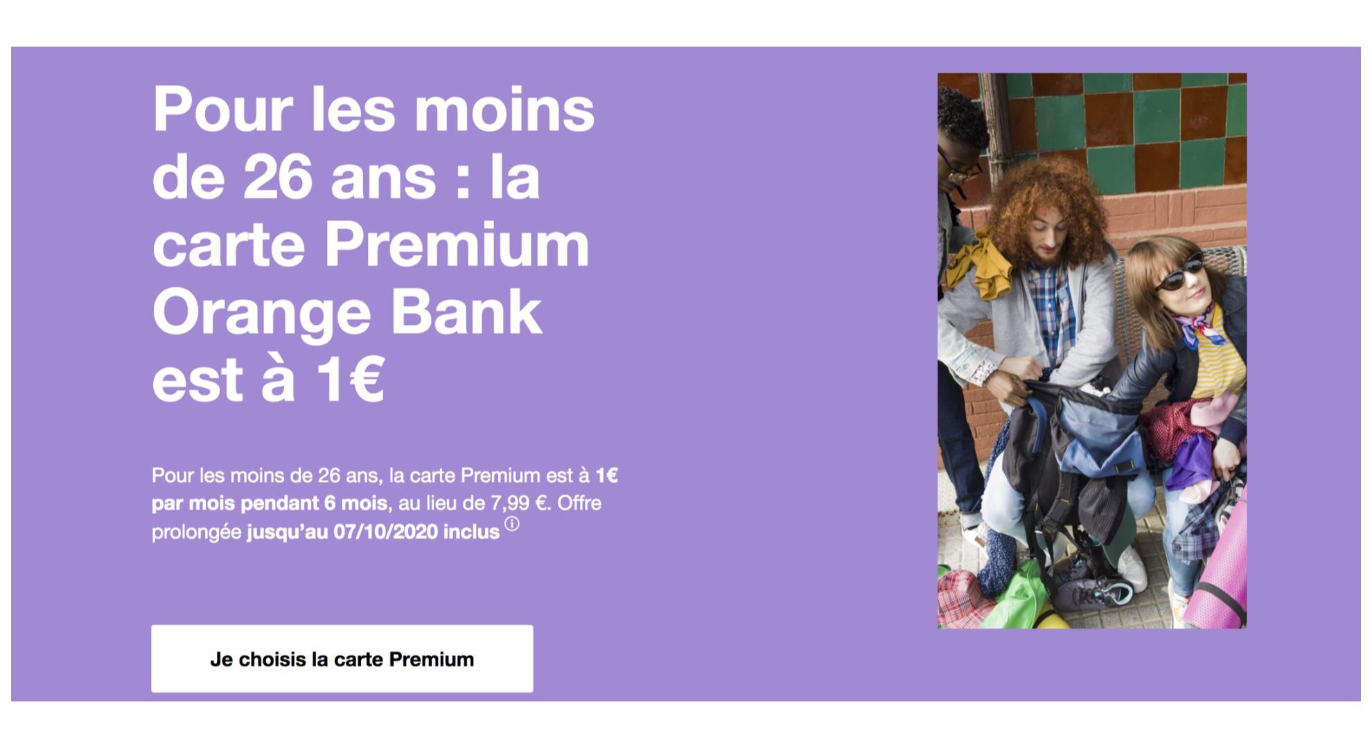 Orange Bank : la carte Visa Premium est à 1 € par mois pour les – de 26 ans