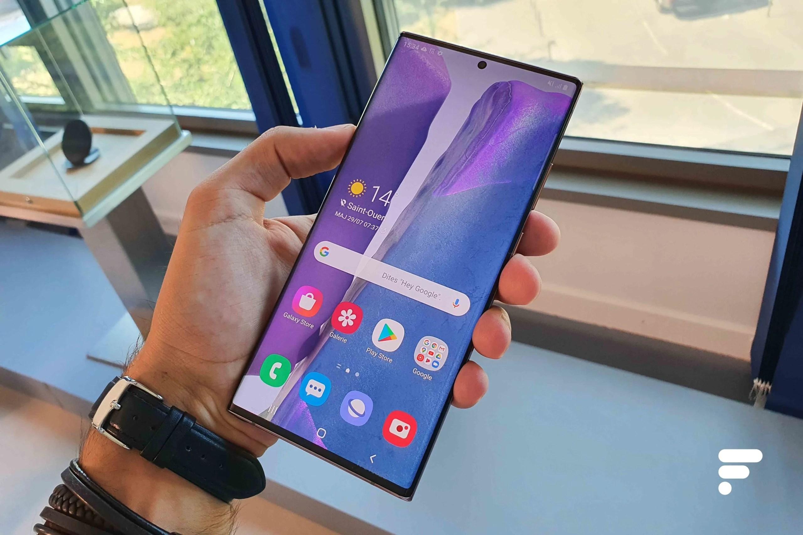 De 10 à 120Hz sur le Galaxy Note 20 Ultra: Samsung frime avec sa technologie d'écran