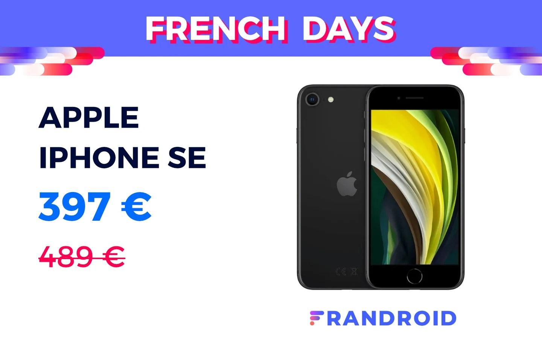 L'iPhone SE chute pour la première fois sous les 400 € grâce à ce code promo