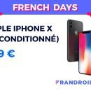 Pour les French Days, l'iPhone X est disponible à 399 € en reconditionné