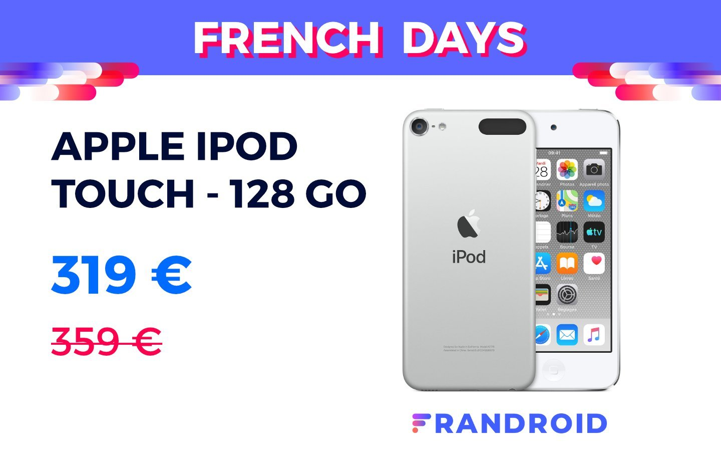 La version 128 Go de l'Apple iPod touch baisse son prix pour les French Days