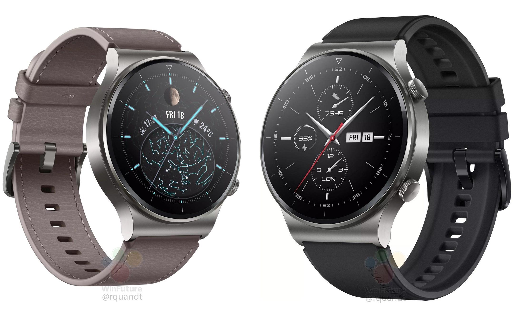 Huawei Watch GT2 Pro: la future montre tout en sobriété se dévoile avant l'heure