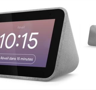 Le réveil intelligent Lenovo Smart Clock bénéficie de 50 % de réduction