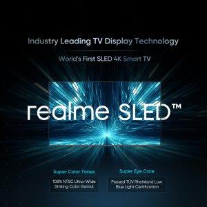 Realme annonce le SLED pour des TV avec de plus belles couleurs