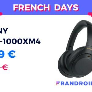 Le nouveau casque Sony WH-1000XM4 passe déjà à 269 € au lieu de 380