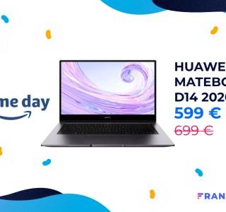 Le Huawei MateBook D 14 2020 coûte 100 € moins cher pour le Prime Day