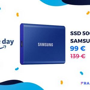 Le Prime Day permet d'obtenir le SSD portable Samsung T7 à moins de 100 €