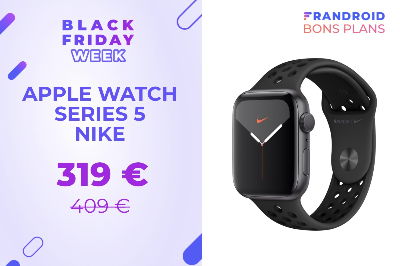 L'édition Nike de l'Apple Watch Series 5 est bradée pour le Black Friday