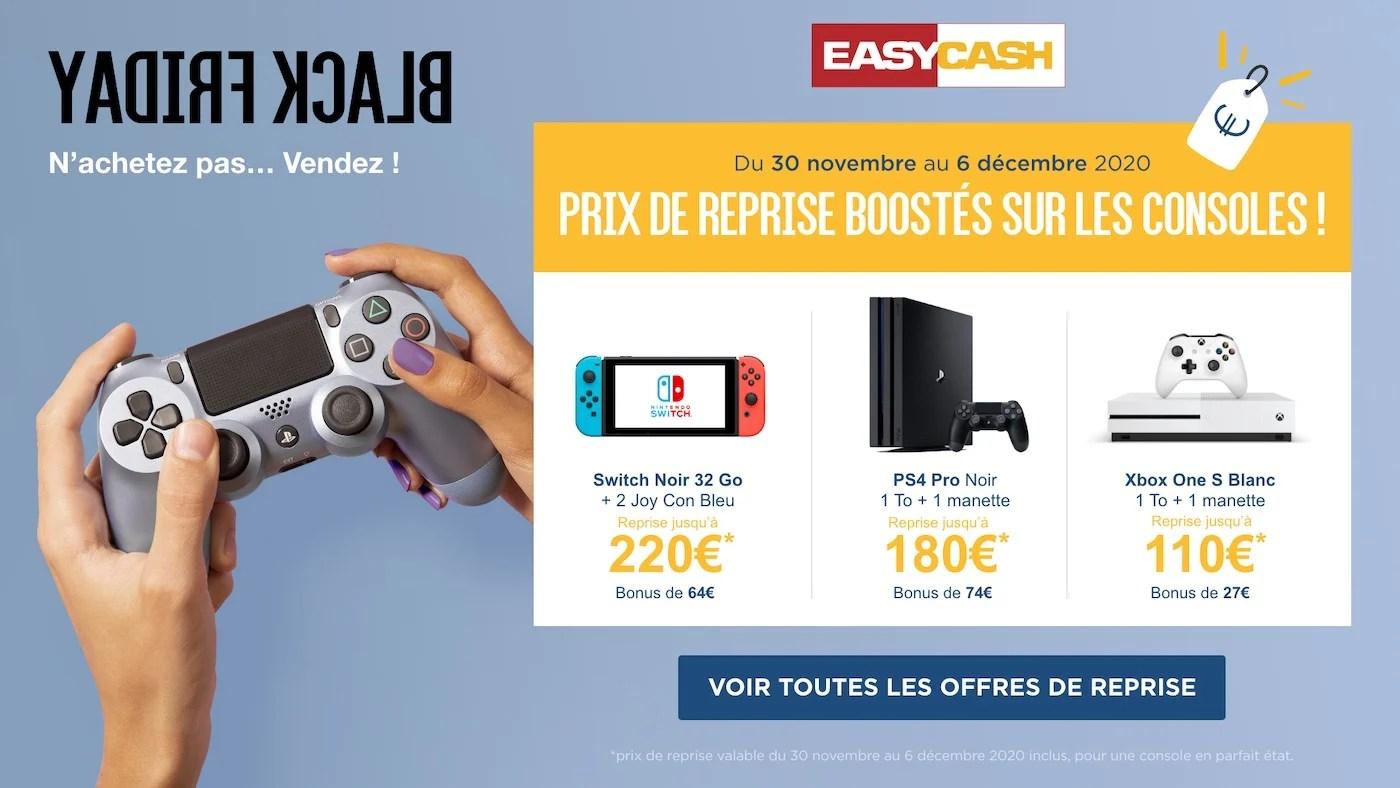 Easy Cash augmente le prix de reprise des consoles: il est encore temps de revendre la vôtre
