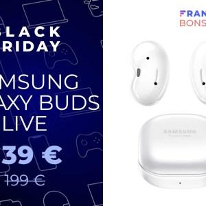 Les Samsung Galaxy Buds Live passent de 199 à 139 euros pour le Black Friday