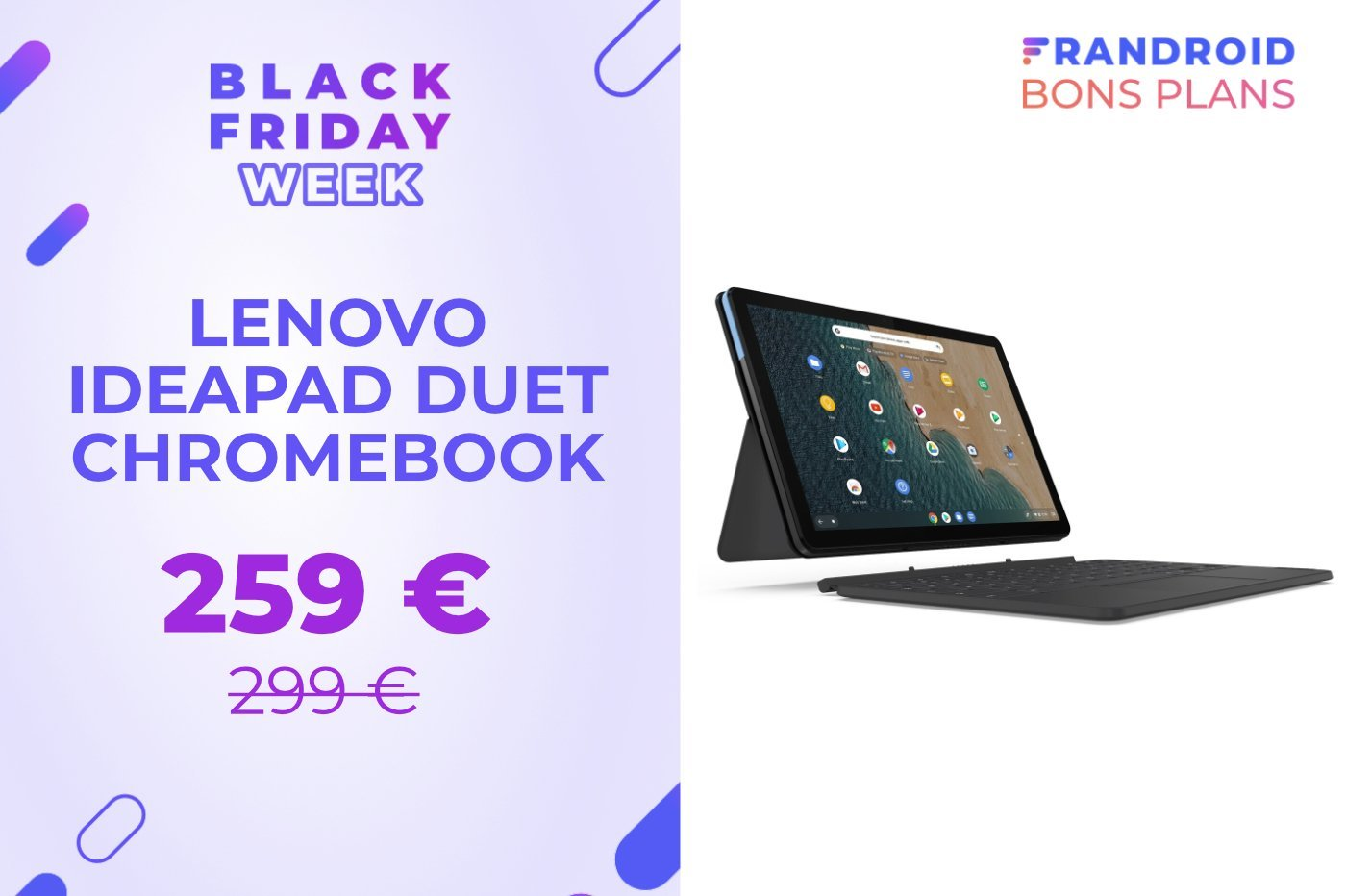 Le prix de la tablette Lenovo IdeaPad Duet Chromebook baisse de 40 € pour le Black Friday