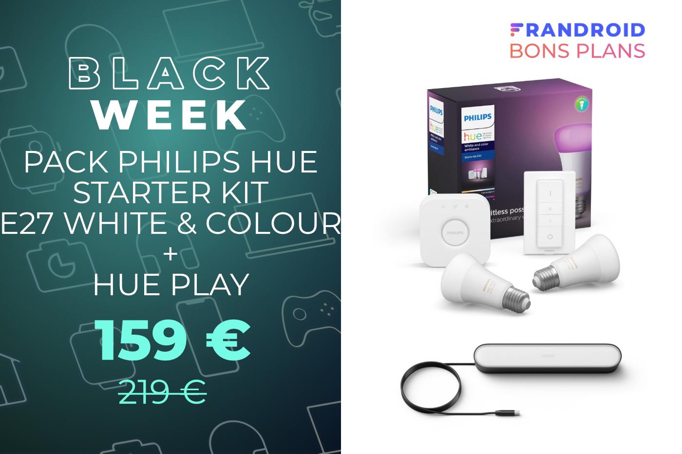 Le prix du starter kit Philips Hue + Hue Play est en forte baisse