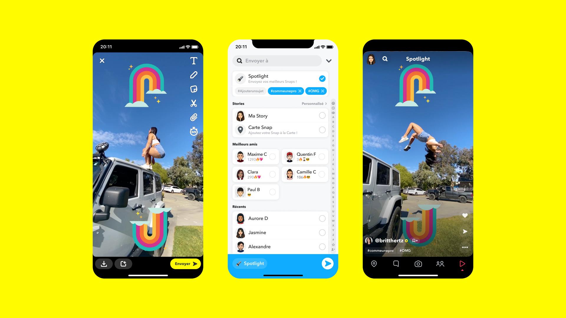 Snapchat lance Spotlight, sa réponse rémunérée à TikTok