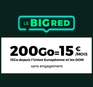 RED by SFR lance un forfait mobile 200 Go à seulement 15 euros par mois