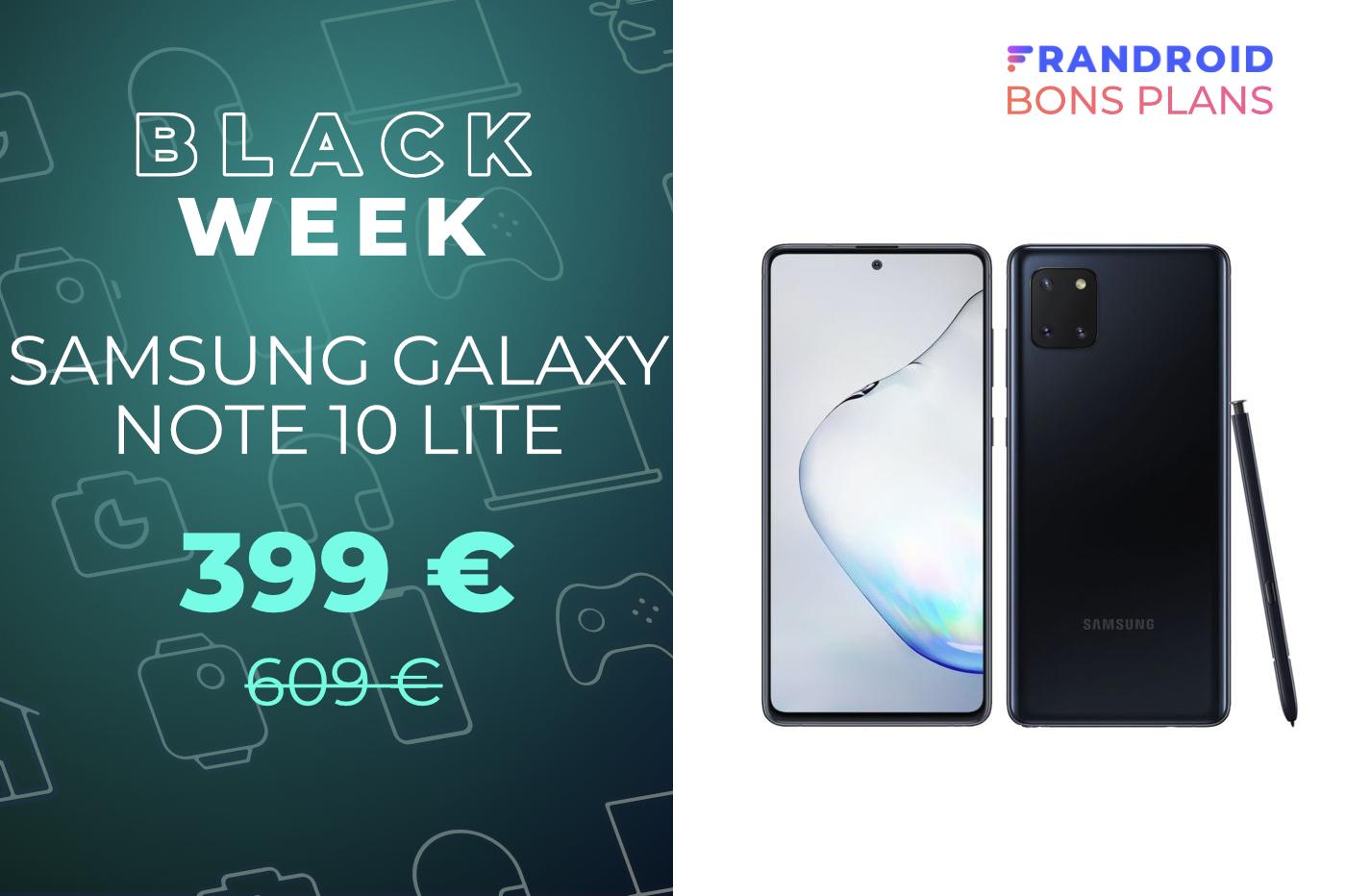 Le prix du Samsung Galaxy Note 10 Lite ne dépasse plus les 400 €