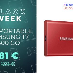 L'excellent SSD Samsung T7 est à son prix le plus bas pour le Black Friday