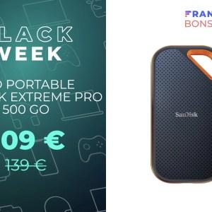 Le mini SSD portable SanDisk Extreme Pro de 500 Go est en promo sur Amazon