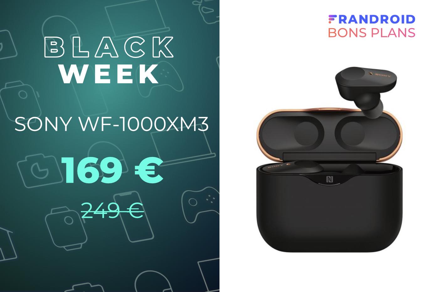 Sony WF-1000XM3 : une réduction de bruit active excellente pour 169 euros