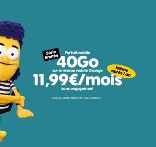 Sosh et ses forfaits mobile en série limitée, dont un 40 Go à 11,99 €/mois