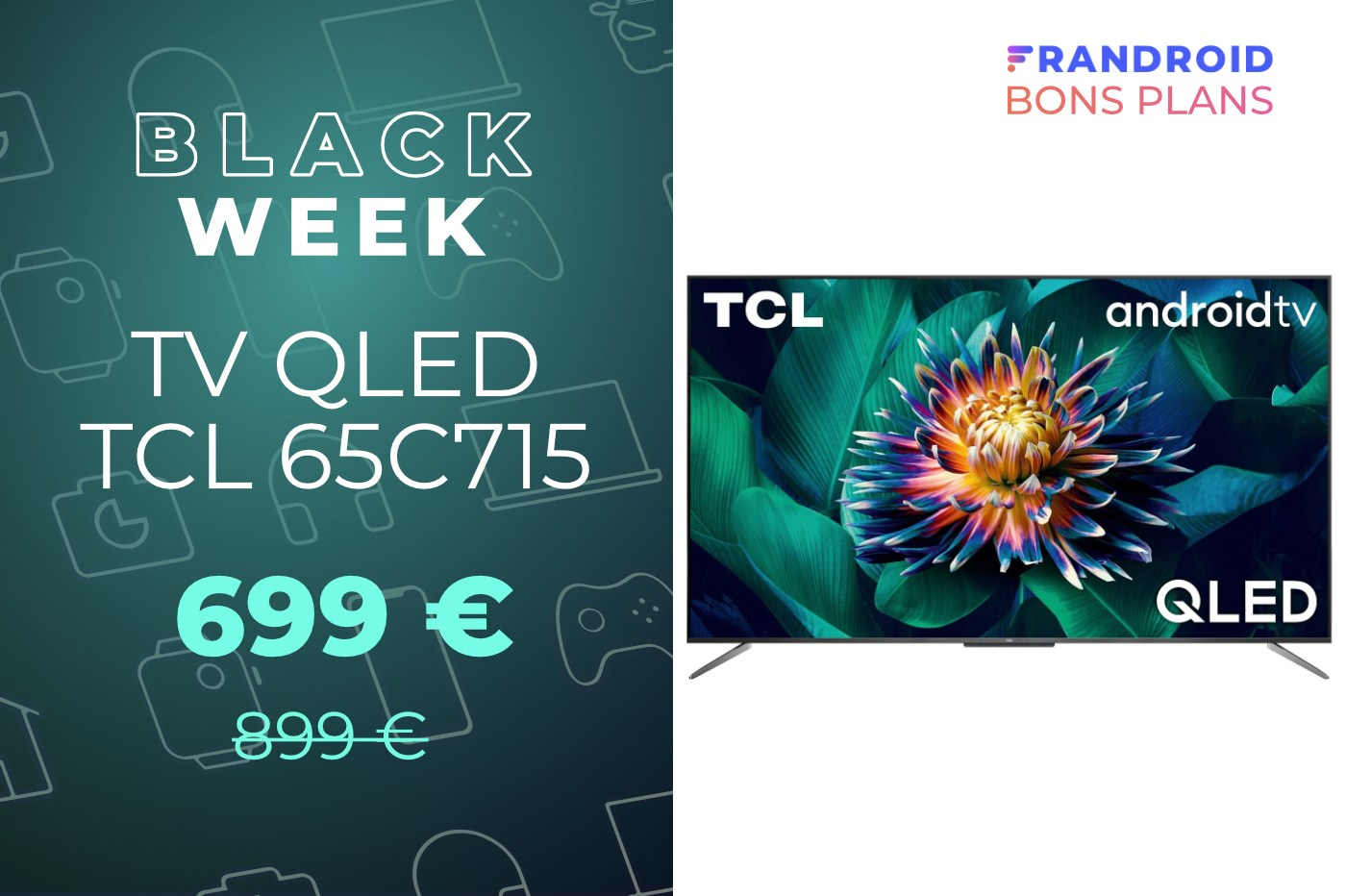 Cette TV QLED TCL de 65 pouces, avec Dolby Vision et HDR10+, ne coûte que 699 €