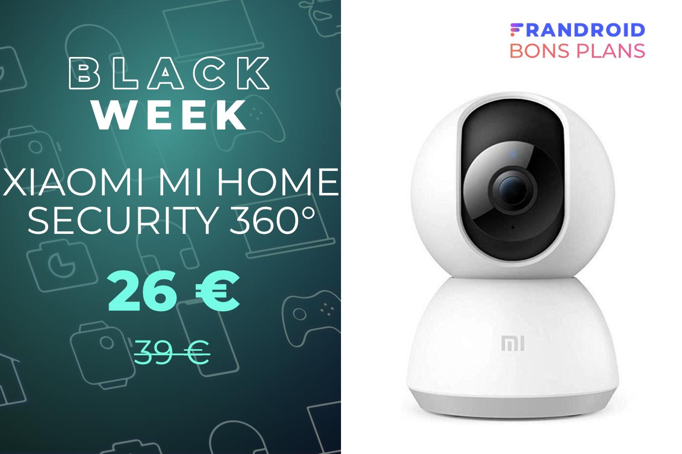 La caméra Xiaomi Mi Home Security 360° chute de nouveau à 26 euros