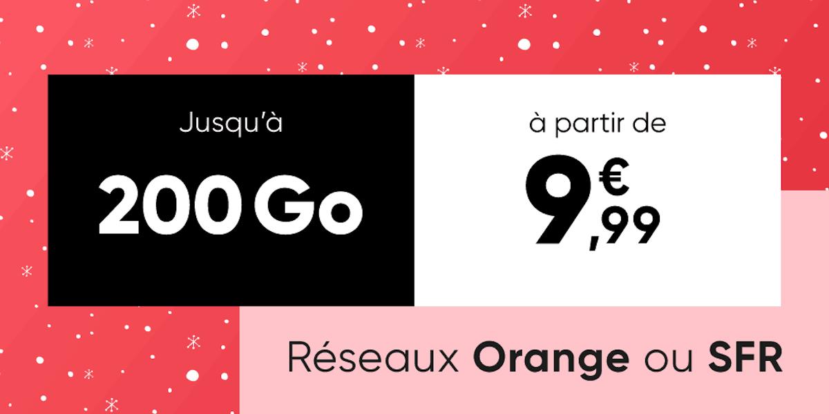 À partir de 9,99 euros, ce forfait mobile peut atteindre les 200 Go chez Orange ou SFR