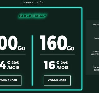 Black Friday RED by SFR : forfait mobile 100 Go à 14 € ou 160 Go à 16 €