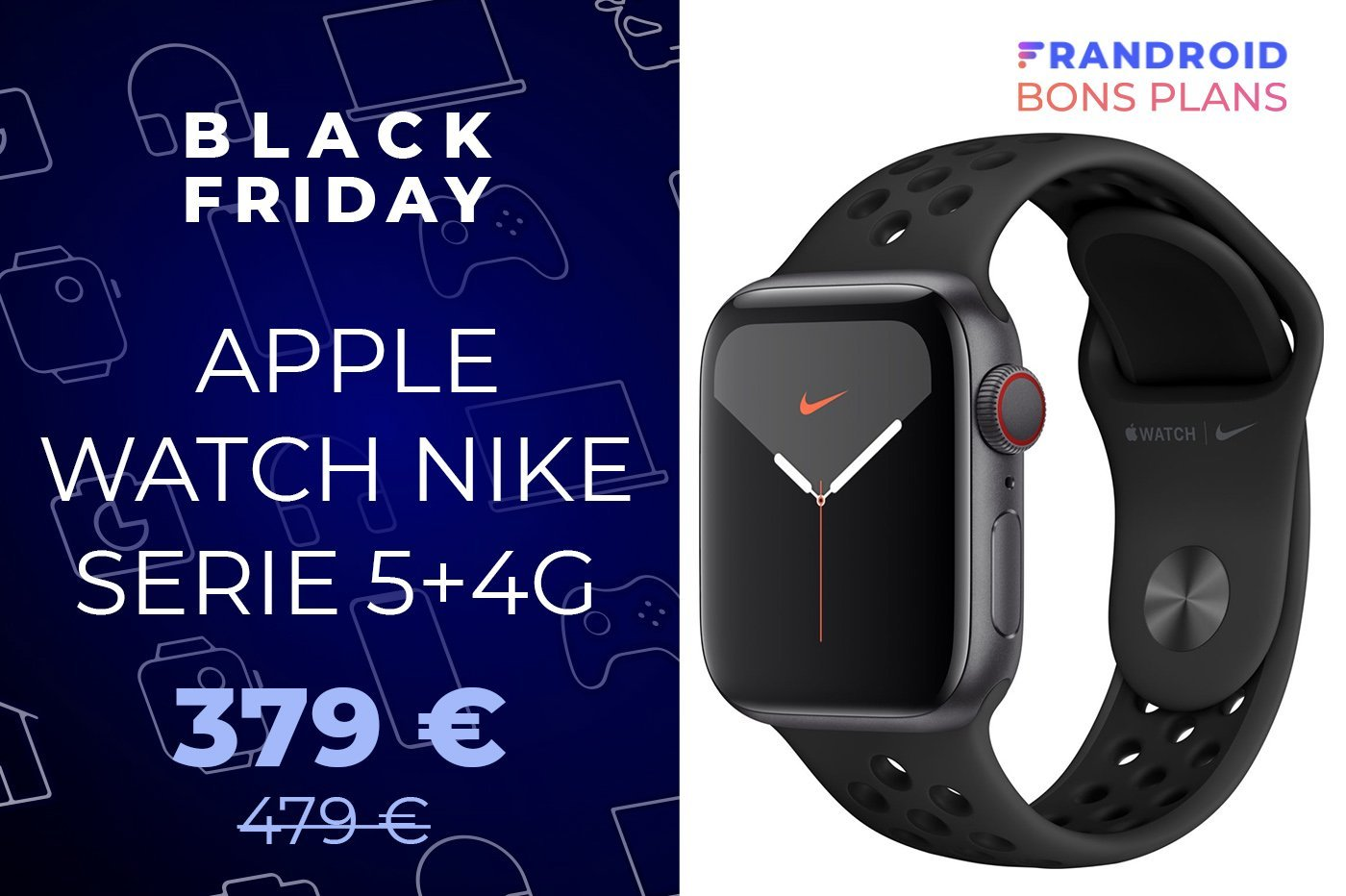 L'Apple Watch Serie 5 compatible 4G est à -100 euros pour le Black Friday
