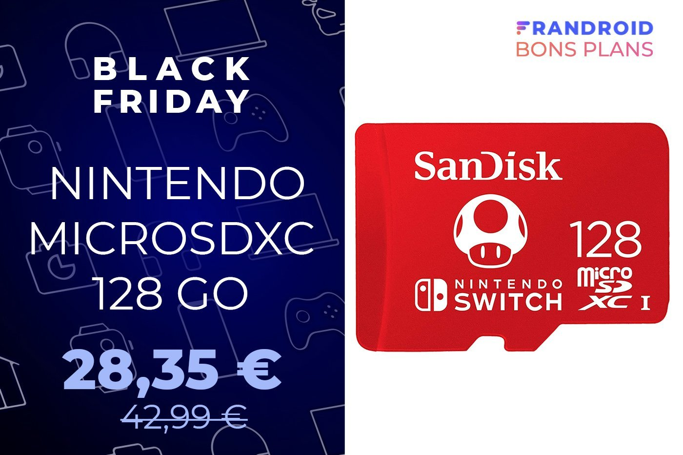 Exclusivité Black Friday : la microSD officielle de la Nintendo Switch est à -34 %