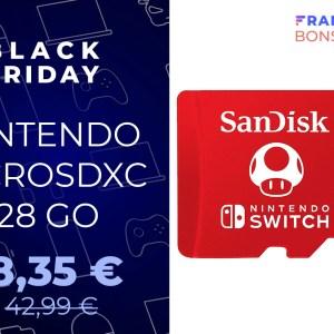 Exclusivité Black Friday : la microSD officielle de la Nintendo Switch est à -34 %