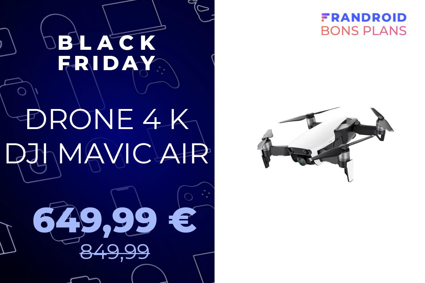Le drone DJI Mavic Air est 270 euros moins cher pour le Black Friday