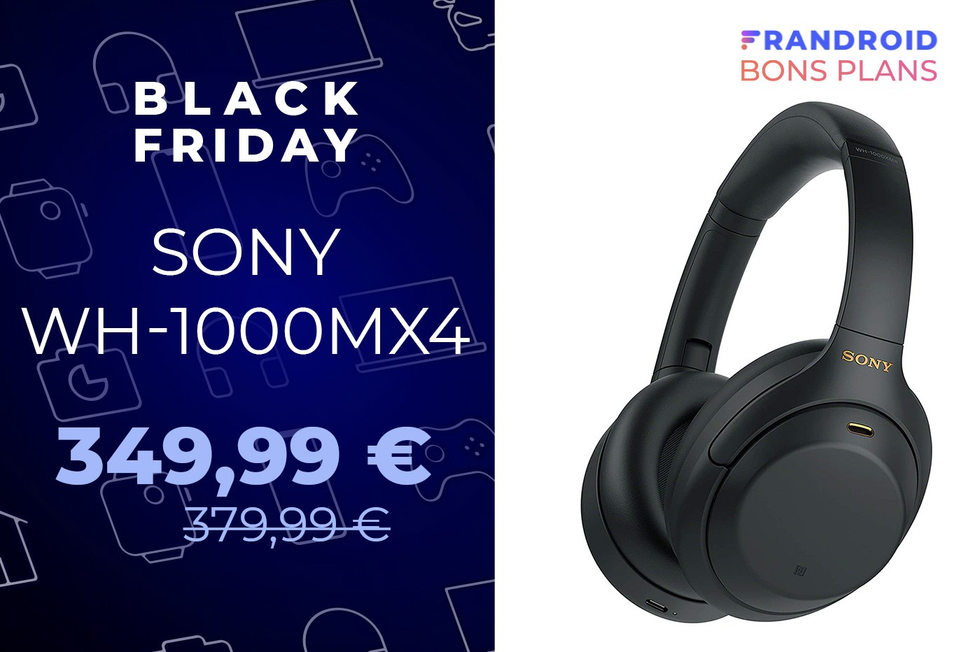 Une baisse de prix pour le Sony WH-1000XM4 pendant le Black Friday