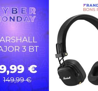 Le casque Marshall Major 3 BT encore à moitié prix pour le Cyber Monday