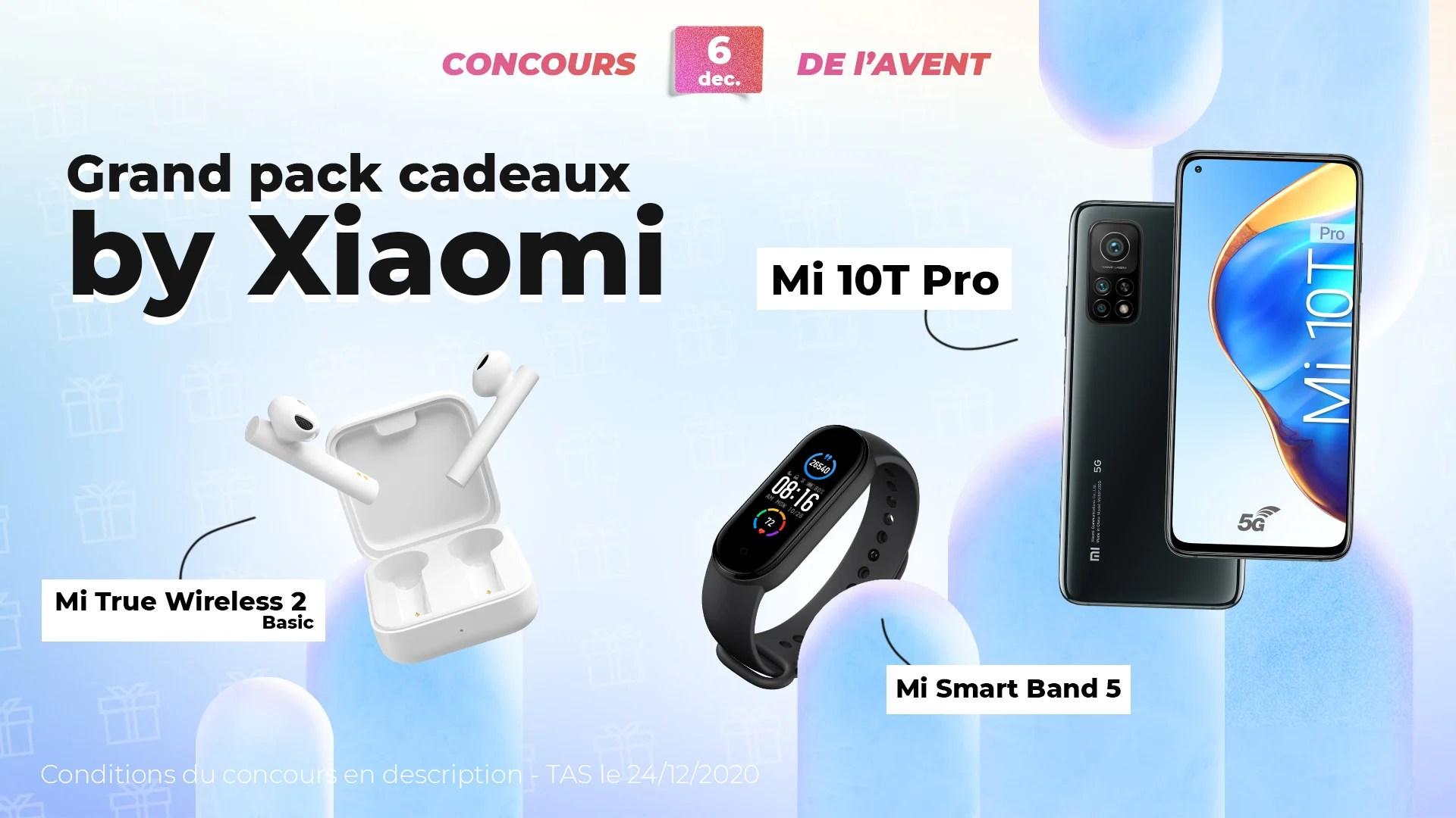 #FrandroidOffreMoi un gros lot Xiaomi (Mi 10T Pro, Mi Smart Band 5 et Mi True Wireless 2 Basic)