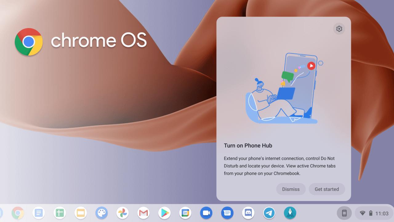 Chrome OS : le prochain Phone Hub pour votre smartphone Android prend forme