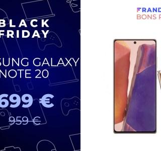 Le Samsung Galaxy Note 20 chute à un prix inédit pour le Black Friday