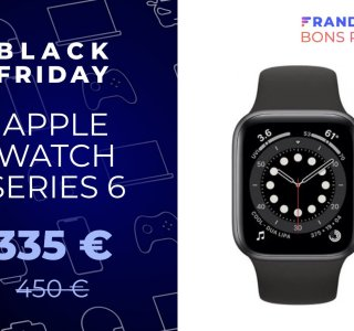 L'Apple Watch Series 6 chute déjà à 335 euros pour le Black Friday