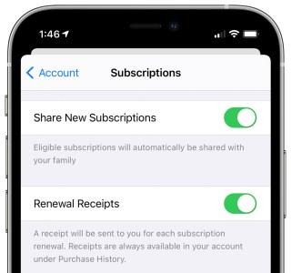 Apple active le partage familial pour les souscriptions et les achats in-apps