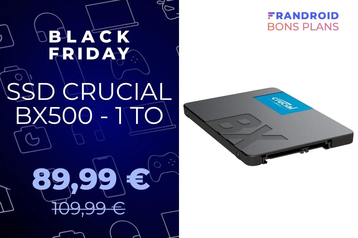 Pour le Black Friday, ce SSD de 1 To place le Go à moins de 9 centimes