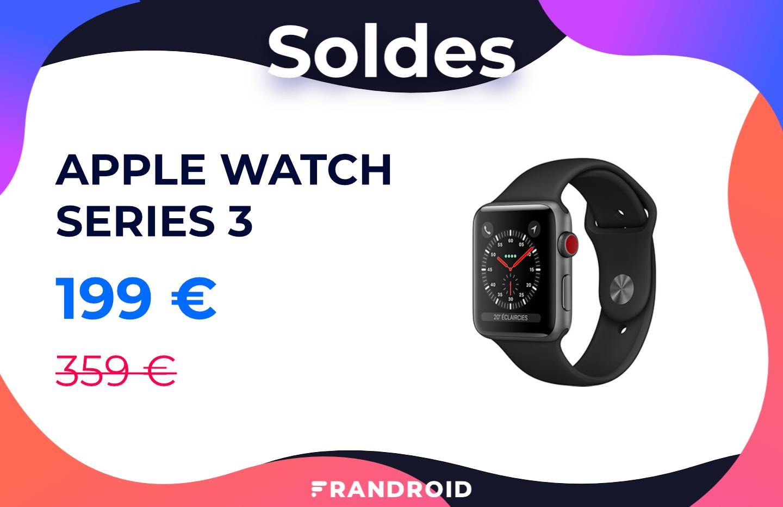 L'Apple Watch Series3 4G est à 160euros de moins chez RED