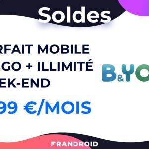 Les soldes B&You avec un forfait mobile 100 Go + illimité le week-end