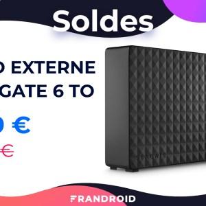 Le disque dur externe Seagate Expansion 6 To est soldé à 109 € sur Amazon